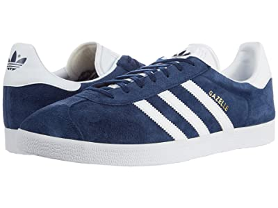 adidas Originals Gazelle Foundation (Collegiate Navy/White/Gold Metallic) Men
