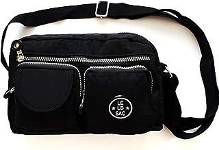 Le Sac Multi Pockets Nylon Crossbody Bag   Shoulder Purse