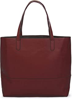 Overbrooke Large Vegan Leather Tote - Womens Slouchy Shoulder Bag with Open  Top fded93c3a6cd5
