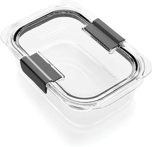Rubbermaid Brilliance Food Storage Container, Medium, 3.2 Cup, 100% Leak-Proof, Plastic, Clear