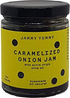Caramelized Onion 8oz Spread - All Natural Onion Jam - Real Caramelized Onion - JAMMY YUMMY- Made with Onions, Sugar, Extr...