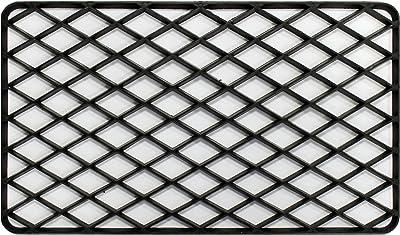 Decorative Hall Mat Rectangular PVC Black 34x 58cm