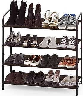 Simple Houseware 4-Tier Shoe Rack Storage Organizer, Bronze