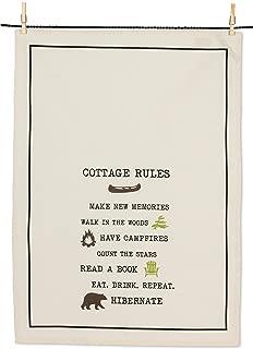 Abbott Collection 1256-KT-04 Cottage Rules Tea Towel-20x28