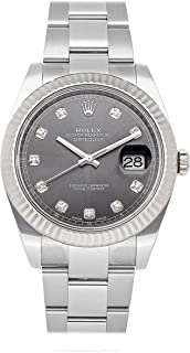 Datejust Mechanical (Automatic) Rhodium Dial Mens Watch 126334 (Certified Pre-Owned)