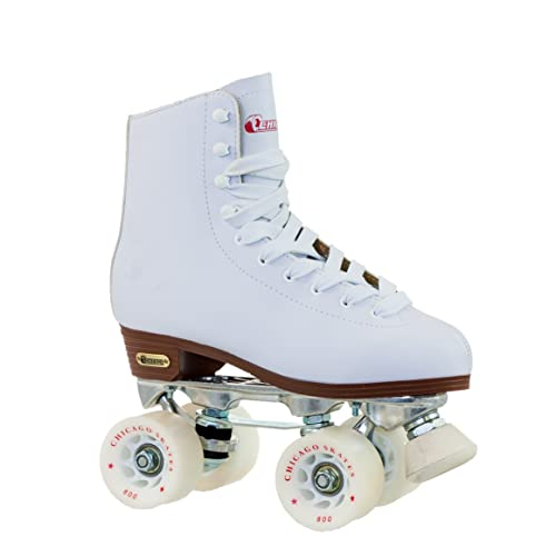 Chicago Womens Leather Lined Rink Roller Skate, White