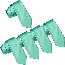 Mens Wedding Tie Wholesale Groomsman Solid Color Skinny Ties 5 Pack (2 inch)