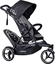 phil&teds Dot Compact Inline City Stroller with Double Kit, Graphite – Compact Frame with Full Size Seat – Newborn Ready – Parent Facing Seat Included – Compact, One Hand Fold – Puncture Proof Tires