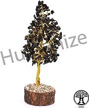 Humanize Decoración de mesa de curación espiritual Reiki Alambre de oro Árbol de turmalina negro Feng Shui Regalo Vastu Decoración de mesa Árbol