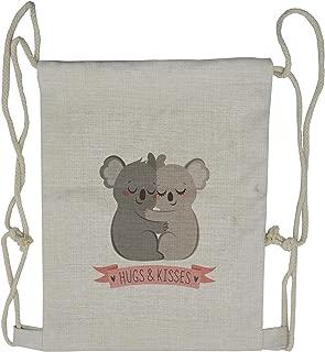 Lunarable Koala Drawstring Backpack, Valentines Day Australia Bear, Sackpack Bag
