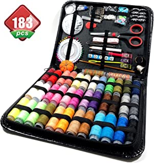 Sewing Kit, 183 Premium Sewing Supplies, Perfect for Beginners - Adults – Kids – Traveller, Bride Emergency kit, Sewing Thread Organizer and Storage, 38 XL Threads.