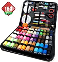 Sewing Kit, 183 Premium Sewing Supplies, Best for Beginners - Adults - Starter - Traveller, Professional Sew Kits, Thread and Needle Premium - Hand Sewing Accessories - Full Size Organizer Kit Sewing