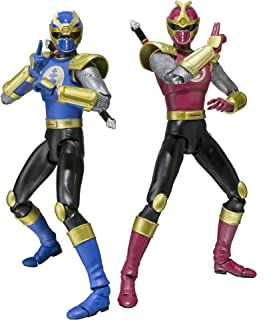 Bandai Tamashii Nations S.H. Figuarts Crimson Thunder Ranger and Navy Thunder Ranger Power Rangers Ninja Storm Action Figure Set
