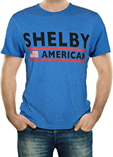 Shelby American Flag Tee T-Shirt Royal Heather Blue | Officialy Licensed Shelby Product | Preshrunk Jersey