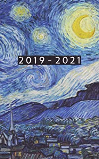 2019 - 2021: Weekly Planner Starting June 2019 - May 2021 | 5 x 8 Dated Agenda | 24 Month Appointment Calendar | Organizer Book | Soft-Cover Van Gogh Starry Night