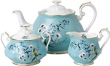 Royal Albert 3 Piece 100 Years 1950 Teapot, Sugar & Creamer Set, Multicolor