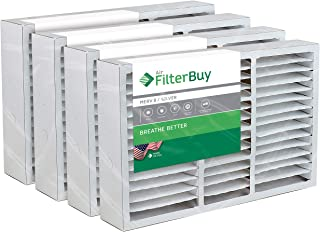 FilterBuy 16x25x5 Honeywell FC200E1029 Compatible Pleated AC Furnace Air Filters (MERV 8, AFB Silver). Replaces Honeywell 203719, FC35A1001, FC100A1026, FC100A1029 and Carrier FILXXCAR0016. 4 Pack.