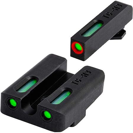 TRUGLO TFX Pro Tritium and Fiber Optic Xtreme Handgun Sights for Glock Pistols