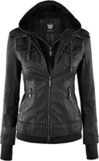 womens leather hoodie
