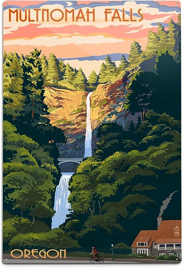 Amazon Com Multnomah Falls Oregon Sunset 46749 12x18 Art Print Wall Decor Travel Poster Posters Prints