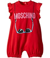 Moschino Kids - Logo Sunglasses Graphic Romper (Infant)