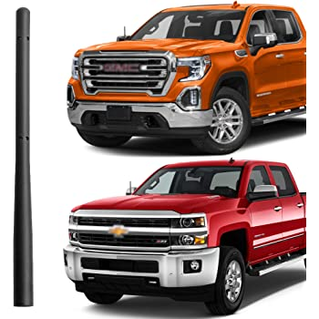 Bullet Antenna Compatible fit for Chevrolet Silverado 1500 GMC Sierra Truck 2007-2017 2018 2019 4.2 Inches Short Stubby Antenna Mast Replacement Accessories