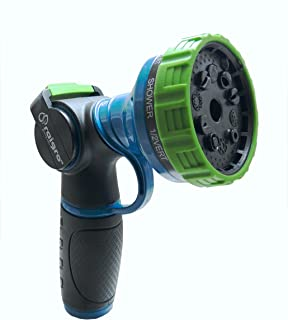 Raigro Lawn and Garden Heavy-Duty, Hose Nozzle with Firehose-Style Control and 10 Spray Patterns