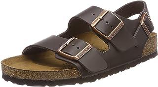 BIRKENSTOCK Milano Womens Dark brown Leather Sandals 39 EU (6-6.5 R US Men/8-8.5 R US Women)