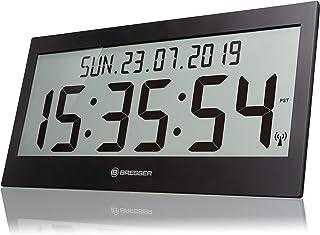 Bresser Wall Clock, Black, groß