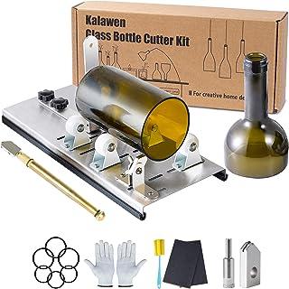 Kalawen Adjustable Glass Bottle Cutter Kit DIY Tool, Stainless Steel Cutting Machine Set for Wine, Beer, Liquor, Whiskey, ...