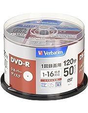 三菱ケミカルメディア Verbatim 1回録画用DVD-R(CPRM) VHR12J50VS1 (片面1層/1-16倍速/50枚)