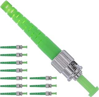 Fiber ST Connector - Fiber Optic Connector Kit Single Mode Simplex APC 0.9mm - 10 Pack - Beyondtech Ceramic Ferrule Fiber Connectors