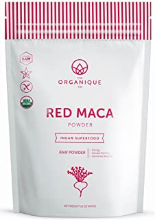 The Organique Co. Red Maca Root Powder - 16 Ounce - Certified Organic, Raw, Non-GMO Supplement - Energy, Female Fertility, Hormone Balance - Sustainably Sourced from Peru