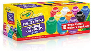 Crayola 10 59ml Paint Jars Assorted Classic Colours Arts & Crafts