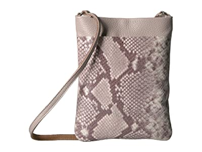 Leatherock Monroe Cell Pouch (Snake Beige/Taupe) Cross Body Handbags