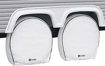 Classic Accessories OverDrive Deluxe RV & Trailer Wheel Cover, 4-Pack, White, (For 30