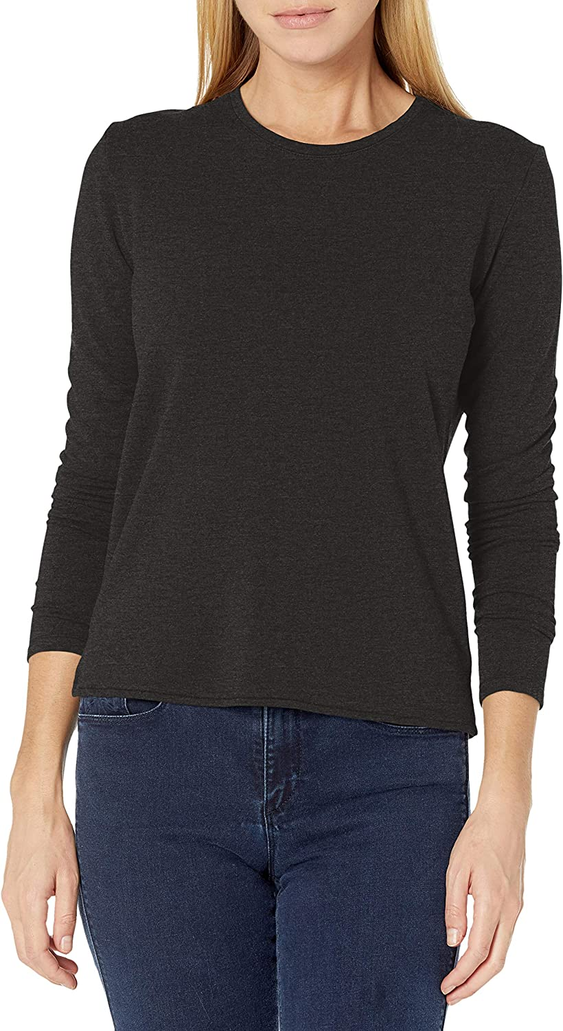 Majestic Filatures Women's French Terry Sleeve Long Crew Challenge the lowest price of Japan ☆ Baltimore Mall Boxy