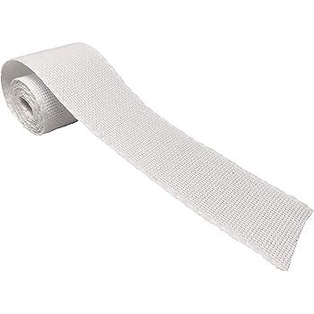 Cinta de tela Aida para Punto de Cruz | Entredós para bordar de 14 ct | 100% algodón | Para personalizar toallas o bolsas de tela | 50mm ancho | 3 metros | de DELICATELA (Blanco): Amazon.es: Hogar