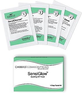 Cheryl's Cosmeceuticals SensiGlow 1 Pack Skin Soothing 4-step Easy DIY Anti -Irritant Facial Kit for Sensitive Skin for Wo...
