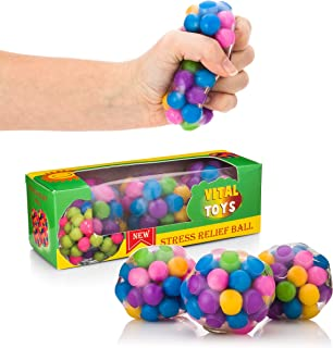 VITAL TOYS Fidget Balls-Sensory Toys for Autistic Children - Autism Toys for Kids and Adults - Squishy Toys-Squeeze Balls - Ideal Fidgets for Classroom, Home Travel and Office - 3 Pack