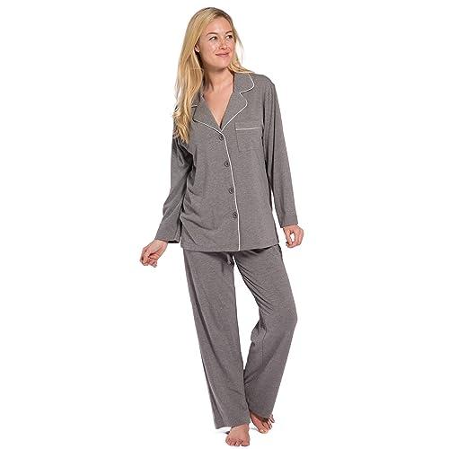 Fishers Finery Women s EcoFabric Full Length Pajama Set  Long Sleeve with  Gift Box 4237e320c