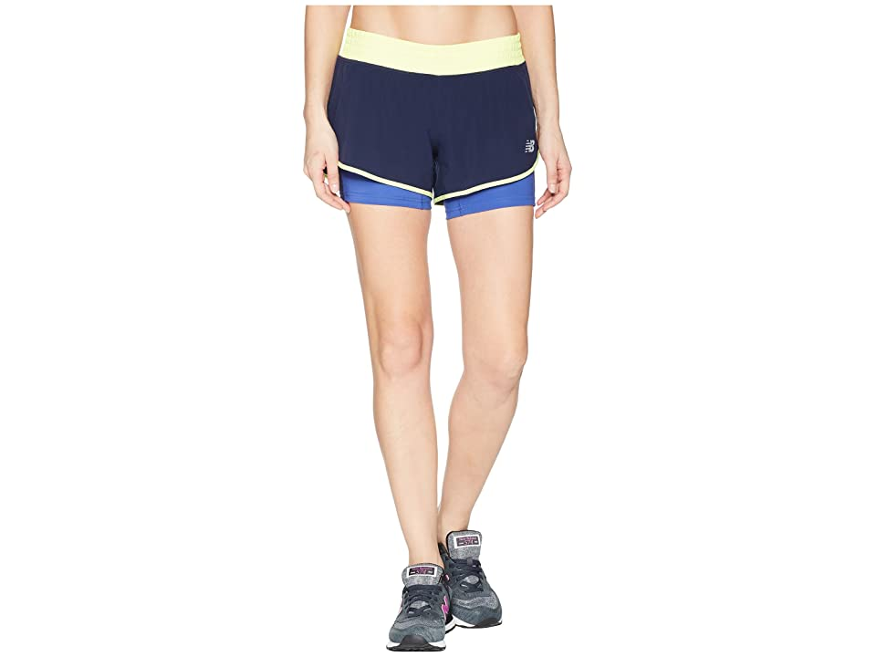 New Balance 4 Impact Shorts (Blue Iris) Women