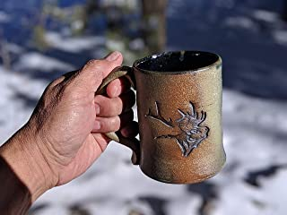 Hand Made Native American Pottery Mug, Signed by Artist, Authentic Southwestern Style Navajo Pottery Cup