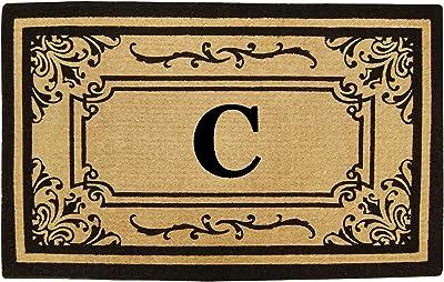Nedia Home Heavy Duty Coco Georgetown Doormat, 24 by 39-Inch, Monogrammed C