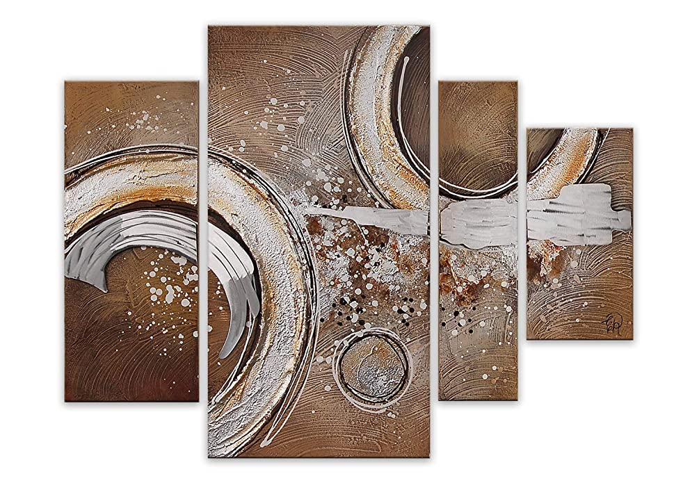 World Art TW60073 Aesthetic Wooden Frame Abstract 80x109x3.5 cm Size: 32 x 43 x 2 Inch