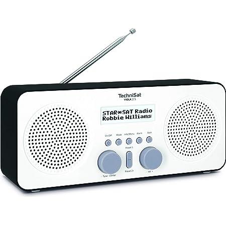 Technisat Viola 2 S Tragbares Dab Radio Dab Ukw Wecker Stereo Lautsprecher Kopfhöreranschluss Aux In Zweizeiliges Display Tastensteuerung 4 Watt Rms Weiß Schwarz Heimkino Tv Video