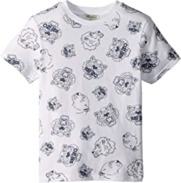 All Over Printed Tiger Short Sleeve T-Shirt (Toddler/Little Kids)