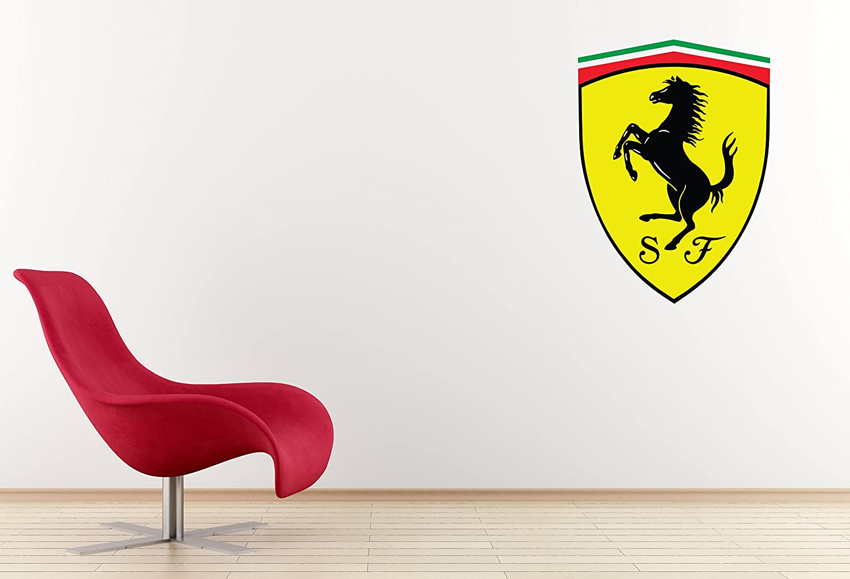 Amazon Com West Mountain Inc Ferrari Logo Wall Decal Sticker Medium 16 W X 21 H Sports Outdoors