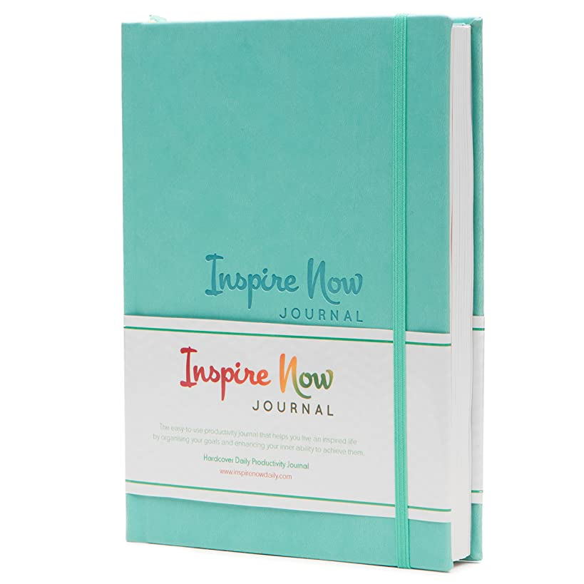 INSPIRE NOW JOURNAL – A5 Daily & Weekly Productivity Planner | Undated Organiser | Set and Achieve Your Goals- Get Things Done | Increase Productivity, Motivation & Gratitude| Turquoise
