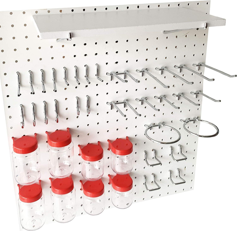 Pegboard Hooks Kit-RED-41-Piece 1/4